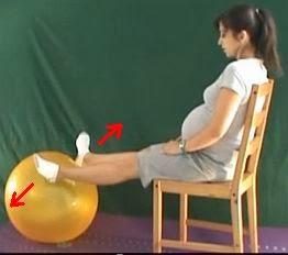 ćwiczenia na obrzęki na piłce