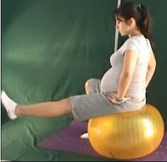 ćwiczenia w ciąży, ćwiczenia równoważne na dużej piłce