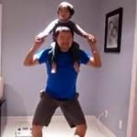 Efektywne ćwiczenia taty z dzieckiem