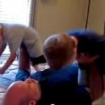 Zaawansowane ćwiczenia taty z dziećmi