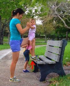 ćwiczenia z dzieckiem, ćwiczenia łydek