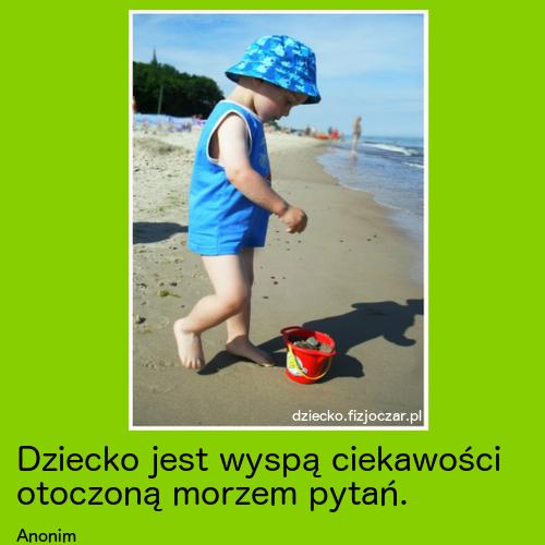 dziecko jest wyspą ciekawości otoczoną morzem pytań