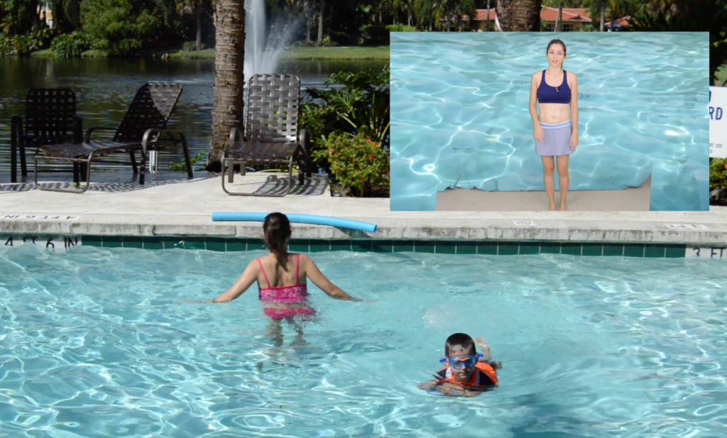 ćwiczenia, w wodzie, aqua, aqua aerobics, aquaaerobik