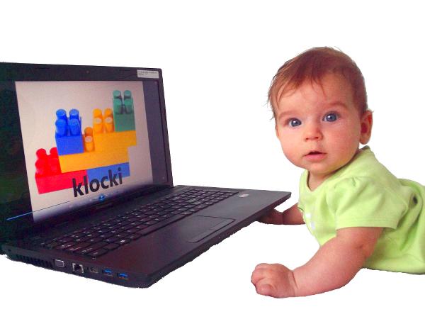nauka dla dzieci, dziecko przy komputerze